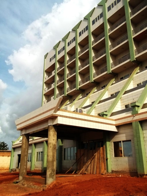 modern architecture in ouaga . everprotecting material on the facades - ceramic tiles