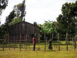 Mesincho school - nearby church