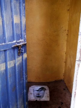 bursa school - latrines in bricks (WASH)