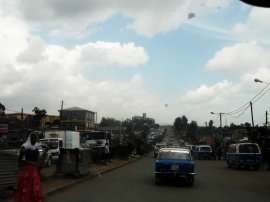 suburbs of Addis - traffic jam