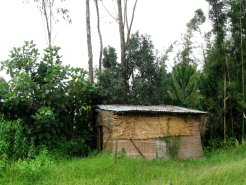 bursa school - latrines in bamboo