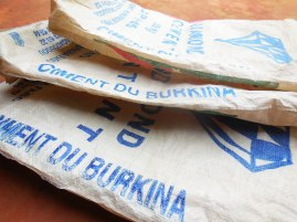 no leftovers after us... we will reuse the plastic bags of cement to...