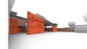 bolocentre triangle vers2 - 3D View - café_briques