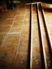 draft composition on floor
