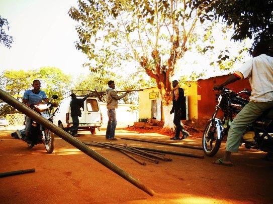 preparation - tent building