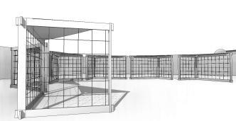 festival marche - 3D View - stand au marché