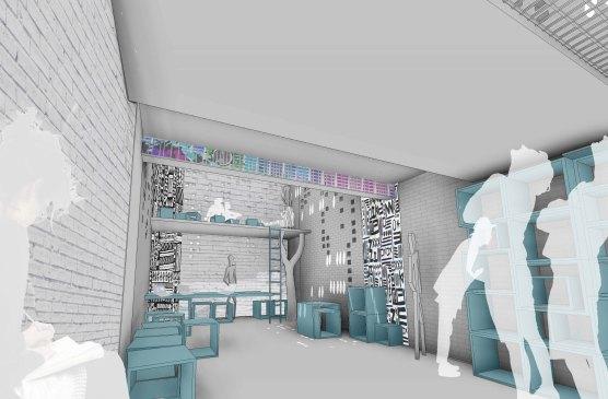 jumpHUBcube - 3D View - ofis-in entree_vizu