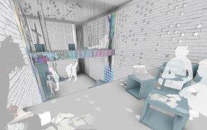 jumpHUBcube - 3D View - ofis-in mezzo_vizu