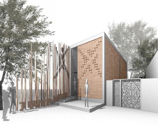 00jumpHUB - 3D View - ofis facade - vizu