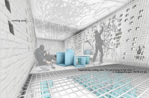 00jumphub - 3D View - ofis-in etage graffitii