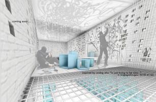 00jumphub - 3D View - ofis-in etage graffitii