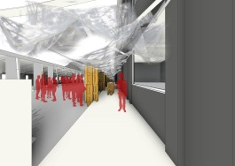 cdc ddc - 3D View - couloir d´expo - vizu