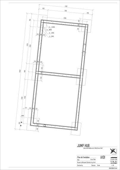 jmphb - Sheet - A101 - Plan de Fondation
