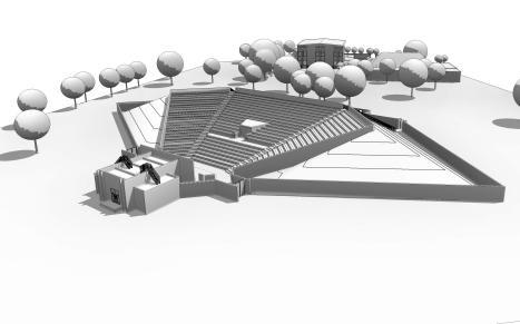 cdc theatre - 3D View - bird view amphiteatre front
