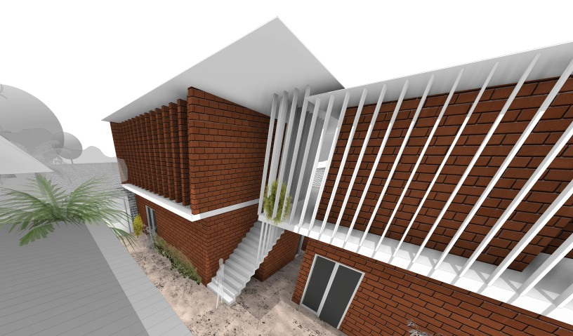 p09 - 3D View - p09 in workspace escalier face vizu
